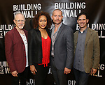 Robert Schenkkan, Tamara Tunie, James Badge Dale and Ari Edelson attend the press photo call for 'Building The Wall' Ripley-Grier on May 5, 2017 in New York City.