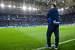 16.03.2019, VELTINS Arena, Gelsenkirchen, Deutschland, GER, 1. FBL, FC Schalke 04 vs. RB Leipzig<br /> <br /> DFL REGULATIONS PROHIBIT ANY USE OF PHOTOGRAPHS AS IMAGE SEQUENCES AND/OR QUASI-VIDEO.<br /> <br /> im Bild Huub Stevens (Trainer / Coach Schalke)<br /> <br /> Foto © nordphoto / Kurth
