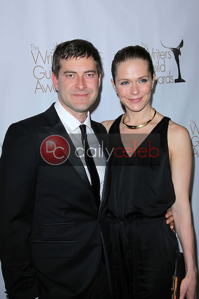 Mark Duplass and Katie Aselton<br /> at the 2013 Writers Guild Awards, JW Marriott, Los Angeles, CA 02-17-13<br /> David Edwards/DailyCeleb.com 818-249-4998