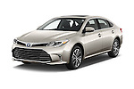 2018 Toyota Avalon XLE Premium 4 Door Sedan Angular Front stock photos of front three quarter view