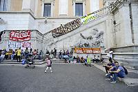 Roma, 23 Settembre 2015<br /> I movimenti per il diritto all'abitare protestano in Campidoglio contro sfratti e sgomberi.