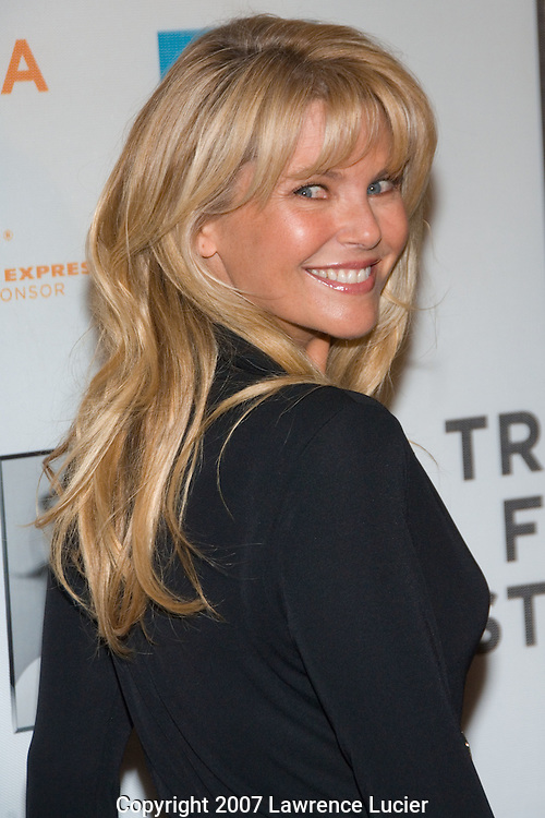 Model Christie Brinkley  arrives at the SOS short film program on the opening night of the Tribeca Fim Festival April 25, 2007, at the Tribeca Performing Arts Center in New York City.. (Pictured : CHRISTIE BRINKLEY).