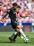 Luciano Vietto (r) of Atletico de Madrid fights for the ball with Ever Maximiliano Banega of Sevilla FC during the La Liga 2017-18 match between Atletico de Madrid and Sevilla FC at the Wanda Metropolitano on 23 September 2017 in Madrid, Spain. Photo by Diego Gonzalez / Power Sport Images
