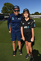 ANZ Coin toss winner with coach Mike Hesson. New Zealand Blackcaps v England. 5th ODI International one day cricket, Hagley Oval, Christchurch. New Zealand. Saturday 10 March 2018. © Copyright Photo: Andrew Cornaga / www.Photosport.nz