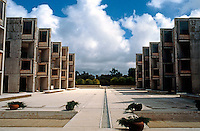 Louis I. Kahn: Salk Institute, La Jolla 1965. Court. Brutalist Architecture. Photo 2004.