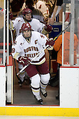 Ben Smith (BC - 12), Brian Boyle (BC - 10) - The Boston College Eagles defeated the visiting Northeastern University Huskies 7-1 on Friday, March 9, 2007, to win their Hockey East quarterfinals matchup in two games at Conte Forum in Chestnut Hill, Massachusetts.
