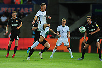 Ben Wilmot of Swansea City has a shot during the Carabao Cup First Round match between Swansea City and Northampton Town at the Liberty Stadium in Swansea, Wales, UK. Tuesday 13 August 2019