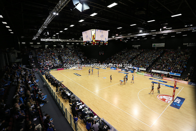 A general view during the ANZ Championship netball match between the Southern Steel and Waikato Bay of Plenty Magic, ILT Stadium Southland, Invercargill, Sunday, June 19, 2016. Photo: Dianne Manson / www.photosport.nz