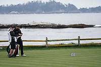 Shane Lowry (IRL) on the 18th tee during the final round of the US Open Championship, Pebble Beach Golf Links, Monterrey, Calafornia, USA. 16/06/2019.<br /> Picture Fran Caffrey / Golffile.ie<br /> <br /> All photo usage must carry mandatory copyright credit (© Golffile | Fran Caffrey)