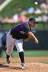 Rockies' Jhoulys Chacin throws during a Cactus League preseason game between the Colorado Rockies and the Arizona Diamondbacks in Scottsdale, Ariz., on Monday, March 5, 2012. .Photo by Cathleen Allison
