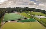 BLOEMDAAL - Hockeyclub Bloemendaal met kunstgras veld 1 en clubhuis. Luchtfoto met GoPro  COPYRIGHT KOEN SUYK