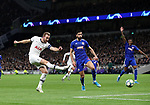Tottenham's Harry Kane fires in a shot during the UEFA Champions League match at the Tottenham Hotspur Stadium, London. Picture date: 26th November 2019. Picture credit should read: David Klein/Sportimage