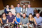 Celebrating their 10th wedding anniversary with friends on Saturday night at Darcy's Barrack Lane were Elaine and Noel Crowley from Castleisland. Pictured front l-r  Brid Daly, Tim Daly, Elaine Crowley, Noel Crowley, Catriona McGuire and Michael Sweeney. Back l-r  Miriam Ferriter, Caroline Cox, Tom Cox, Trese Scanlon and Jimmy Scanlon