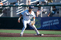 Everett AquaSox first baseman Nick Rodriguez (17) during a Northwest League game against the Tri-City Dust Devils at Everett Memorial Stadium on September 3, 2018 in Everett, Washington. The Everett AquaSox defeated the Tri-City Dust Devils by a score of 8-3. (Zachary Lucy/Four Seam Images)