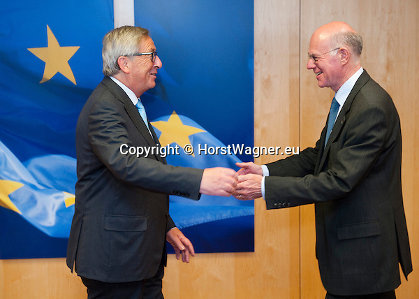 Brussels-Belgium - September 17, 2015 -- Jean-Claude JUNCKER (le), President of the European Commission, receives Professor Norbert LAMMERT (ri), President of the German Bundestag (Federal Parliament) -- Photo: © HorstWagner.eu