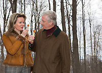 King Philippe &  Queen Mathilde of Belgium on a State Visit to Canada visit a sugar shack - Ottawa
