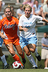 North Carolina's Elizabeth Guess (30) and Florida's Lauren Hyde (5) on Sunday September 17th, 2006 at Koskinen Stadium on the campus of the Duke University in Durham, North Carolina. The University of North Carolina Tarheels defeated the University of Florida Gators 1-0 in an NCAA Division I Women's Soccer game.