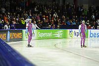 SCHAATSEN: HEERENVEEN: 25-10-2013, IJsstadion Thialf, NK afstanden, 500m, Michel Mulder, Jesper Hospes, ©foto Martin de Jong