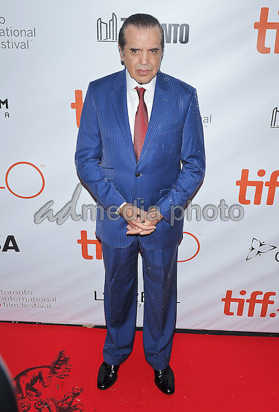 "12 September 2015 - Toronto, Ontario, Canada - Chazz Palminteri. ""Legend"" Premiere during the 2015 Toronto International Film Festival held at  Roy Thomson Hall. Photo Credit: Brent Perniac/AdMedia"