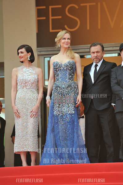 Nicole Kidman, Paz Vega (left) &amp; Tim Roth at the gala premiere of their movie &quot;Grace of Monaco&quot; at the 67th Festival de Cannes.<br /> May 14, 2014  Cannes, France<br /> Picture: Paul Smith / Featureflash