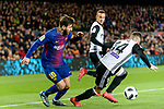 Lionel Messi of FC Barcelona (R) in action against Jose Luis Gaya of Valencia CF (L) during the Copa Del Rey 2017-18 match between FC Barcelona and Valencia CF at Camp Nou Stadium on 01 February 2018 in Barcelona, Spain. Photo by Vicens Gimenez / Power Sport Images