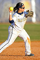 13 February 2010:  FIU's Brie Rojas (24) throws to first as the FIU Golden Panthers defeated the University of Illinois (Chicago) Flames, 2-1, at the University Park Stadium in Miami, Florida.