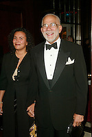 Ed Bradley and wife at the 3rd Annual Directors Guild Of America Honors at the Waldorf-Astoria in New York City. June 9, 2002. <br />
