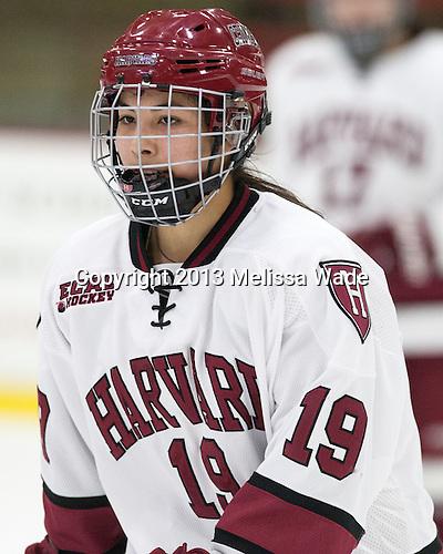 Miye D'Oench (Harvard - 19) - The Harvard University Crimson defeated the visiting Boston University Terriers 3-1 on Friday, November 22, 2013, at Bright-Landry Hockey Center in Cambridge, Massachusetts.
