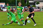 20.07.2017, Sportplatz Birkenmoos, Rottach-Egern, GER, FSP, Borussia M&ouml;nchengladbach vs OGC Nizza, im Bild Reece Oxford (Gladbach #3), Oscar Wendt (Gladbach #17), Pierre Lees-Melou (Nizza #7)<br /> <br /> Foto &copy; nordphoto / Hafner