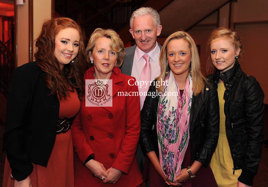 Aine, Eileen, Mike, Laura and Claire Buckley at  the Dr Crokes GAA Club Victory Celebration Night at the Inec, Killarney on Friday night. Picture: Eamonn Keogh (MacMonagle, Killarney)