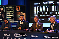 Joe Joyce (2nd L) during a Press Conference at the BT Studio on 9th May 2019