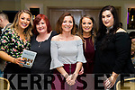 Laura Murphy, Janice O'Rielly, Ayshe Djemal, Marguerite Trant and Emily McGaley at the John Mitchels GAA 'Strictly Come Dancing' at Ballygarry House Hotel on Sunday night.