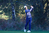 Thorbjorn Olesen (DEN) on the 4th tee during the Pro-Am for the Sky Sports British Masters at Walton Heath Golf Club in Tadworth, Surrey, England on Tuesday 10th Oct 2018.<br />