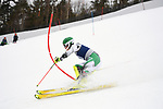 FRANCONIA, NH - MARCH 10:   Tanguy Nef if Dartmouth competes during the Men's Slalom event at the Division I Men's and Women's Skiing Championships held at Cannon Mountain on March 10, 2017 in Franconia, New Hampshire. (Photo by Gil Talbot/NCAA Photos via Getty Images)