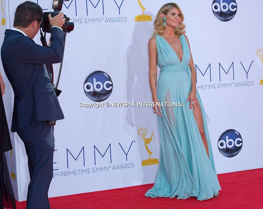 "HEIDI KLUM_64TH PRIME TIME EMMY AWARDS.Nokia Theatre Live, Los Angelees_23/09/2012.Mandatory Credit Photo: ©Dias/NEWSPIX INTERNATIONAL..**ALL FEES PAYABLE TO: ""NEWSPIX INTERNATIONAL""**..IMMEDIATE CONFIRMATION OF USAGE REQUIRED:.Newspix International, 31 Chinnery Hill, Bishop's Stortford, ENGLAND CM23 3PS.Tel:+441279 324672  ; Fax: +441279656877.Mobile:  07775681153.e-mail: info@newspixinternational.co.uk"