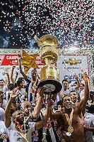 BELO HORIZONTE, MG, 19 MAIO 2013 - CAMPEONATO MINEIRO - ATLÉTICO MG X CRUZEIRO - Jogadores do Atlético Mineiro comemorando o título Mineiro de 2013 após contra o Cruzeiro, jogo valido pela segunda partida da final do Campeonato Mineiro no estádio Mineirão em Belo Horizonte, na tarde deste Domingo, 19. FOTO: NEREU JR / BRAZIL PHOTO PRESS).