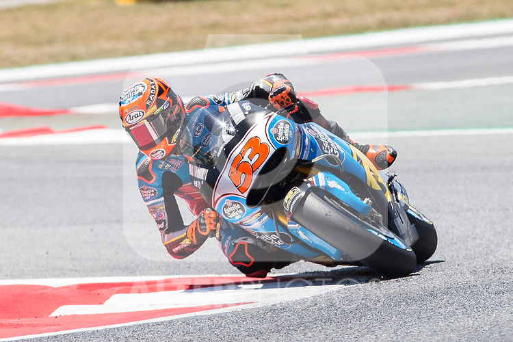 Tito Rabat of Spain and EG 00 Marc VDS Team rides during the qualifying for the MotoGP of Catalunya at Circuit de Catalunya on June 9, 2017 in Montmelo, Spain.(ALTERPHOTOS/Rodrigo Jimenez)