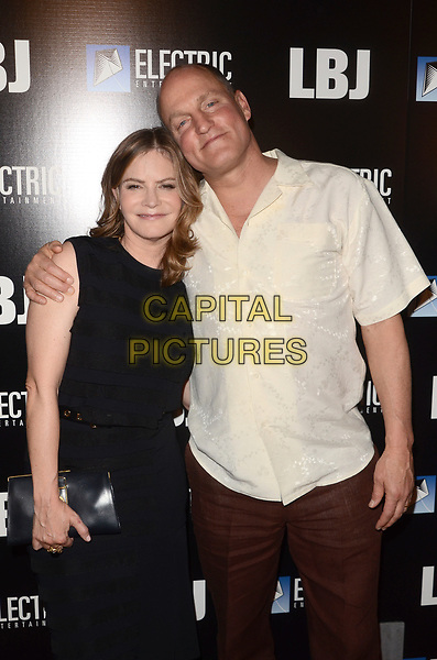 LOS ANGELES, CA - OCTOBER 24: Jennifer Jason Leigh and Woody Harrelson at the premiere of Electric Entertainment's 'LBJ' at the Arclight Theatre on October 24, 2017 in Los Angeles, California. <br /> CAP/MPI/DE<br /> &copy;DE/MPI/Capital Pictures