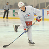 Nils Lundkvist #64 practices before a scrimmage in New York Rangers Prospect Camp held at Madison Square Garden Training Center in Greenburgh, NY on Thursday, June 28, 2018.