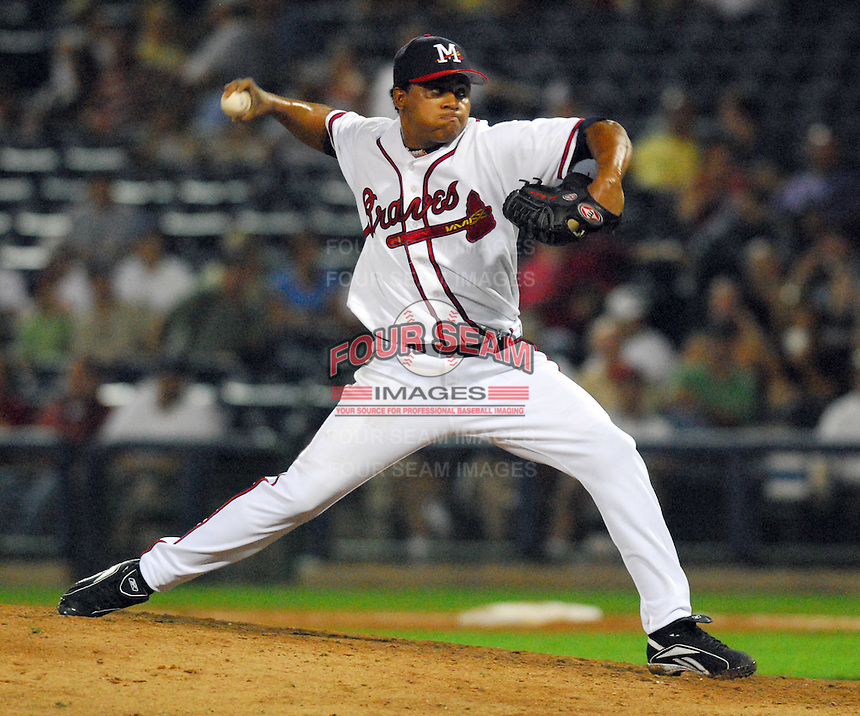 09 July 2007: Jose Ascanio from the 2007 Southern League All-Star Game sponsored by the Mississippi Braves, the Atlanta Braves' Class AA affiliate in Pearl, Miss. Photo by:  Tom Priddy/Four Seam Images
