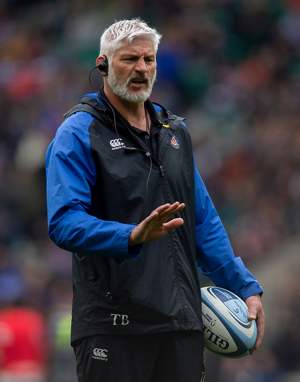 Bath Rugby's Head Coach Todd Blackadder<br /> <br /> Photographer Bob Bradford/CameraSport<br /> <br /> Gallagher Premiership - Bath Rugby v Bristol Bears - Saturday 6th April 2019 - The Recreation Ground - Bath<br /> <br /> World Copyright © 2019 CameraSport. All rights reserved. 43 Linden Ave. Countesthorpe. Leicester. England. LE8 5PG - Tel: +44 (0) 116 277 4147 - admin@camerasport.com - www.camerasport.com