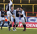 29/01/2005  Copyright Pic : James Stewart.File Name : jspa04_partick v raith.CONALL MUTAGH IS CONGRATULATED AFTER HE SCORES RAITH'S FIRST........Payments to :.James Stewart Photo Agency 19 Carronlea Drive, Falkirk. FK2 8DN      Vat Reg No. 607 6932 25.Office     : +44 (0)1324 570906     .Mobile   : +44 (0)7721 416997.Fax         : +44 (0)1324 570906.E-mail  :  jim@jspa.co.uk.If you require further information then contact Jim Stewart on any of the numbers above.........A
