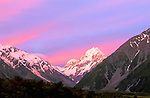 Mt. Cook at Twilight, Mt. Cook NP, South Island, New Zealand