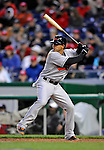 29 March 2008: Baltimore Orioles' second baseman Brian Roberts in action during an exhibition game against the Washington Nationals at Nationals Park, in Washington, DC. The matchup was the first professional baseball game played in the new Nationals Park, prior to the upcoming official opening day inaugural game. The Nationals defeated the Orioles 3-0...Mandatory Photo Credit: Ed Wolfstein Photo