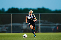 Sky Blue FC defender Kendall Johnson (5). Sky Blue FC defeated the Boston Breakers 5-1 during a National Women's Soccer League (NWSL) match at Yurcak Field in Piscataway, NJ, on June 1, 2013.