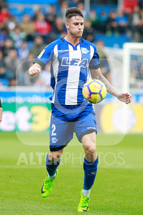 Deportivo Alaves' Carlos Vigaray during La Liga match. October 28,2017. (ALTERPHOTOS/Acero)