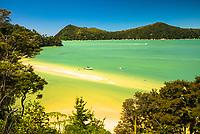 Stilwell Bay on Abel Tasman Coastal Track, Abel Tasman National Park, Nelson Region, New Zealand, NZ