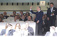 03.06.2012 SPAIN -  Corazon Classic Match 3rd Match played between Real Madrid CF vs Manchester United (3-2) at Santiago Bernabeu stadium. The picture show Florentino Perez