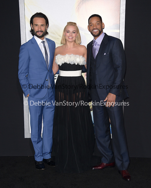 Rodrigo Santoro,Margot Robbie and Will Smith attends Warner Bros. Pictures L.A. Premiere of FOCUS held at The TCL Chinese Theater  in Hollywood, California on February 24,2015                                                                               © 2015 Hollywood Press Agency