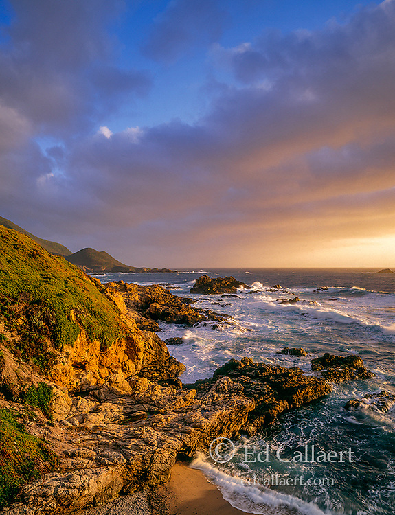 Sunset, Surf, Garrapata State Park, Big Sur, Monterey County, California